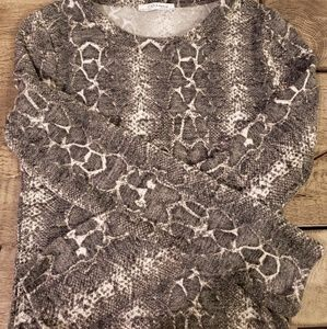 Zara snakeskin print sweater